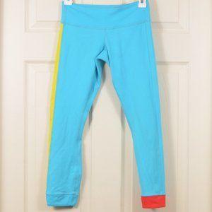 Lulu 4 Amped Crop Yoga tights leggings Spry Blue